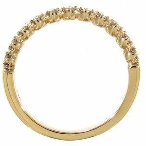 14K Yellow Gold Diamond Stackable Wedding Ring